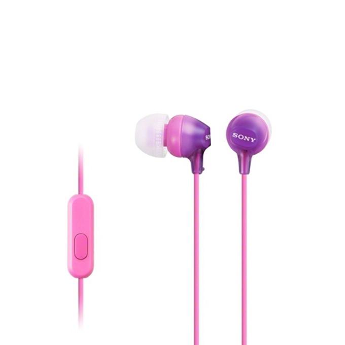 Слушалки Sony MDR-EX15AP, розови image