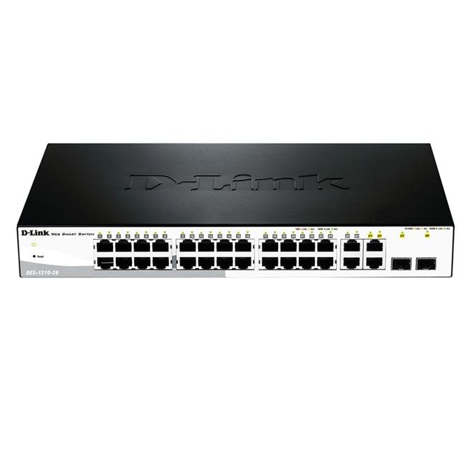 Суич D-Link DES-1210-28, 24x 100Mbps, 4x 1000Mbps BASE-T and Combo BASE-T/SFP  image