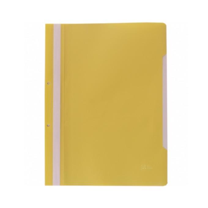 Папка PVC перфорация жълта