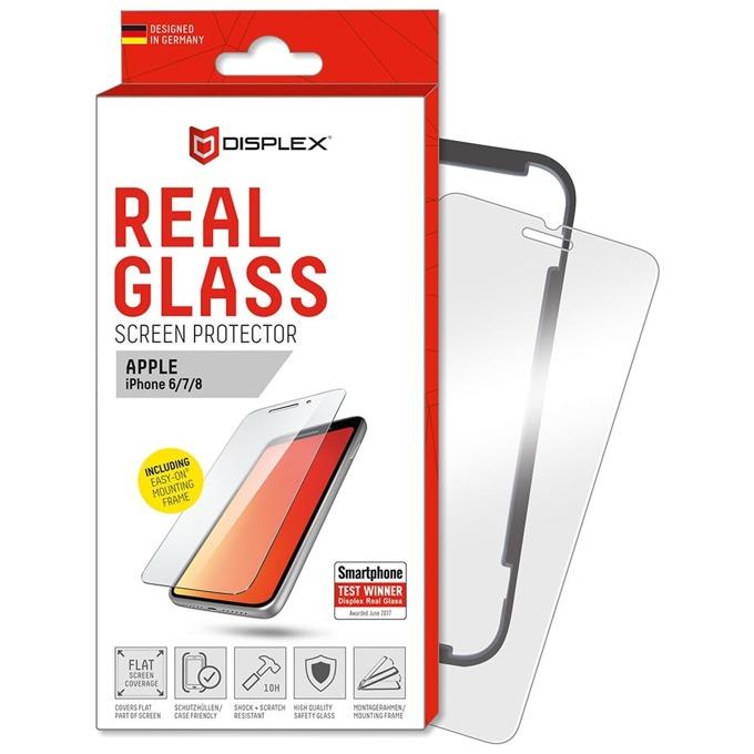 Протектор от закалено стъкло /Tempered Glass/ Displex Real Glass 10H Protector 2D, за Apple iPhone 8/7/6S image