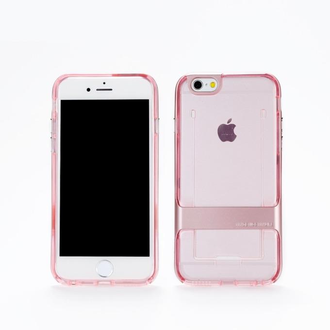 Калъф Apple iPhone 6/6S, страничен протектор, термополиуретанов, Remax, Shapeshifter, Розов image
