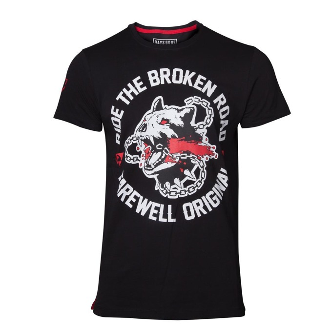 Тениска Bioworld Days Gone Broken Road, размер L, черна image