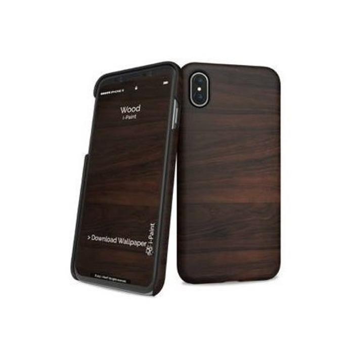 Калъф за Apple iPhone XS, поликарбонатов, iPaint Wood HC 860109, щампа image