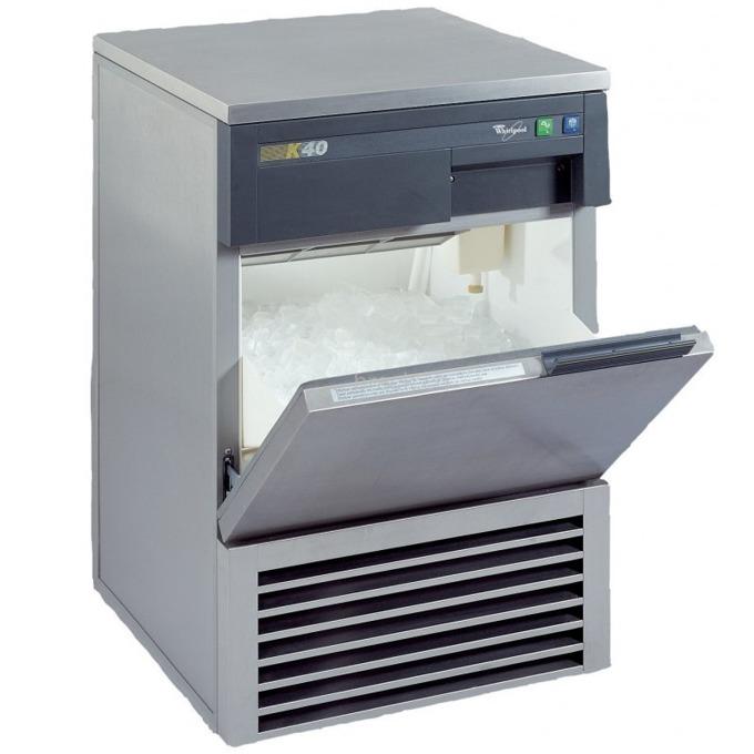 Ледогенератор Whirlpool ZAGB024/PROFI, 40 кг дневно количество лед, 3 размера на кубчетата, 55.6 x 85 x 53.5см, сив image