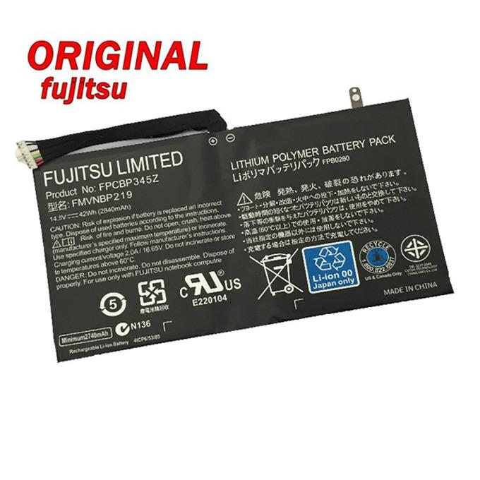 Батерия (оригинална) за Лаптоп Fujitsu LifeBook UH572 FMVNBP219, 4-cell, 14.8 V, 2850mAh image