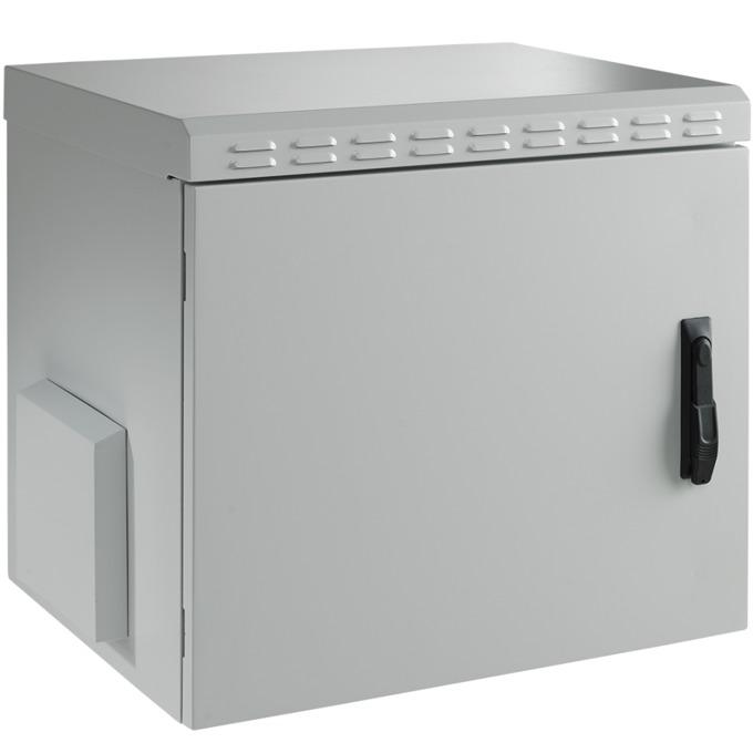 "Комуникационен шкаф Mirsan MR.IP55W16U45.02, 19"", 16U, 450mm, 100 кг товар, бял, за стена, Outdoor image"
