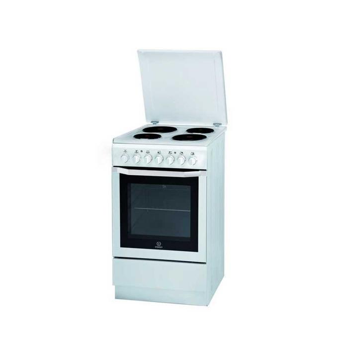 Готварска печка Indesit I5ESH1E(W)/I, клас B, 61 л. обем, 4 бързонагряващи котлона, Грил, инокс image