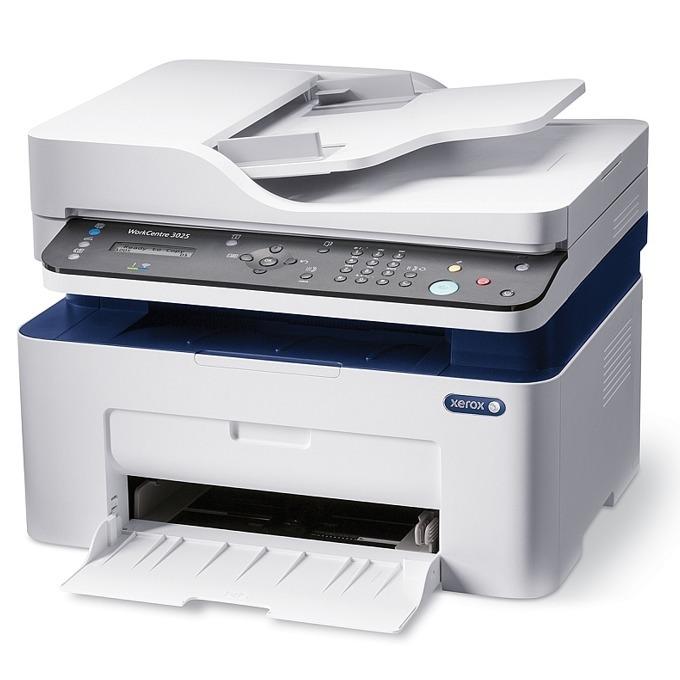 Мултифункционално лазерно устройство Xerox WorkCentre 3025N, монохромен, принтер/скенер/копир/факс, 600x600 dpi, 20стр/мин, ADF, WiFi 802.11n, LAN 10/100, USB, A4, 2г. image