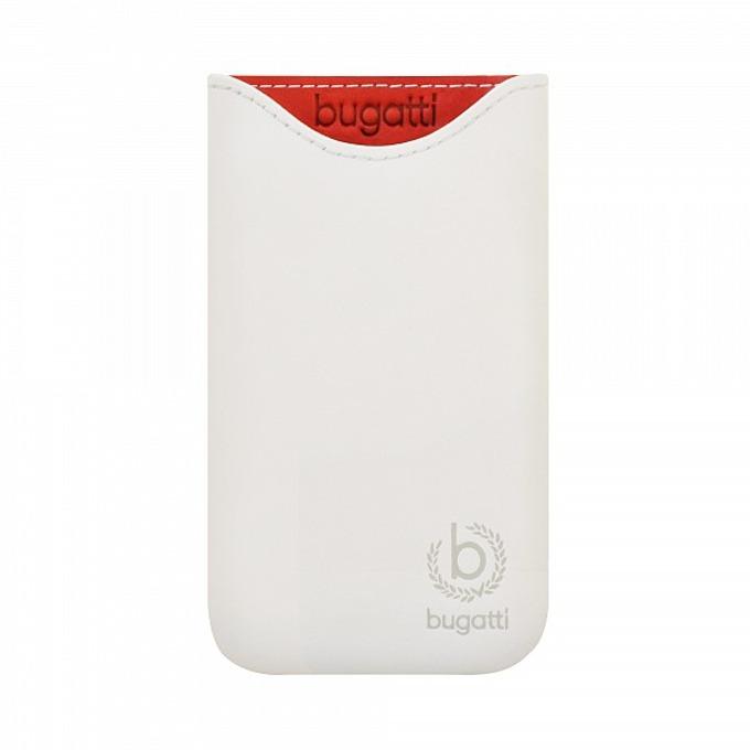 Калъф за Apple iPhone 5/5C/5S, джоб, естествена кожа, Bugatti Skinny ML Glacier, бял image