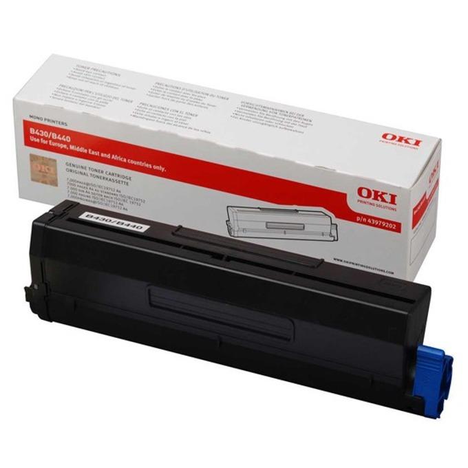 Тонер касета за OKI B410/430/440 - Black - GraphicJet 43979102 - заб.: 3500k image