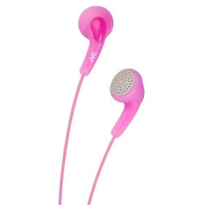 Слушалки JVC HAF140 Gumy, леки и практични, розови image