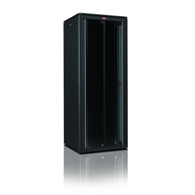 "Комуникационен шкаф Lande LN-SRDC42U8012-BL-241-13, 19"", 42U, 800 x 1200 мм, черен image"
