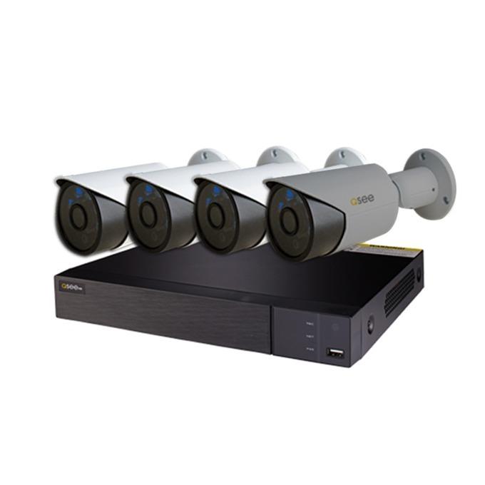 """Комплект за видеонаблюдение Q-See QTH94-4K3, 3бр. AHD куполни камери Q-See QH7080D водоустойчиви IP66 1920х1080 3.6mm lens + 1бр. AHD насочена """"булет"""" камера Q-See QH7080B водоустойчива IP66 1920х1080 3.6mm lens + 1бр. DVR Q-See QTH94 image"""