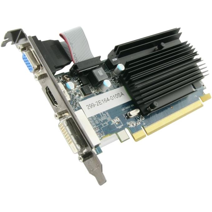 Видео карта AMD HD6450, 1GB, Sapphire, PCI-E, DDR3, 64bit, пасивно охлаждане, HDMI & DVI, BULK image