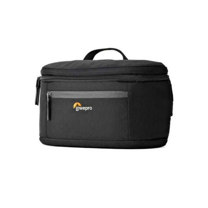 Чанта за фотоапарат Lowepro Passport Duo, за DSLR фотоапарат и аксесоари, влагоустойчива, разгъва се от чанта за кръста в раница, черна image