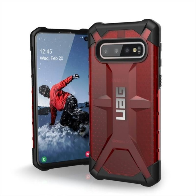 Калъф за Samsung Galaxy S10, хибриден, Urban Armor Plasma 211343119393, удароустойчив, червен image