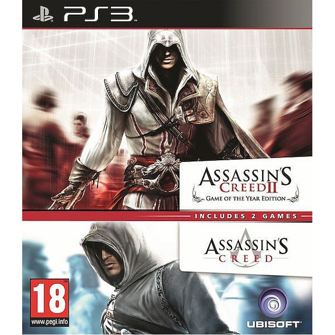 Assassin's Creed + Assassin's Creed 2 (пакет 2в1), за PlayStation 3 image