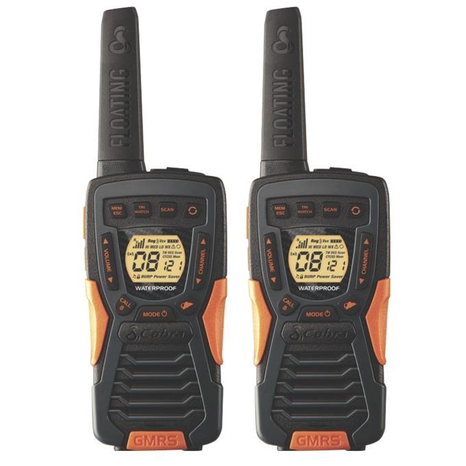 "Walkie-Talkie Cobra AM 1035 FLT, PMR, 8 канала, до 12 км обхат, водоустойчивост клас JIS7, функция ""Бебефон"", черен image"