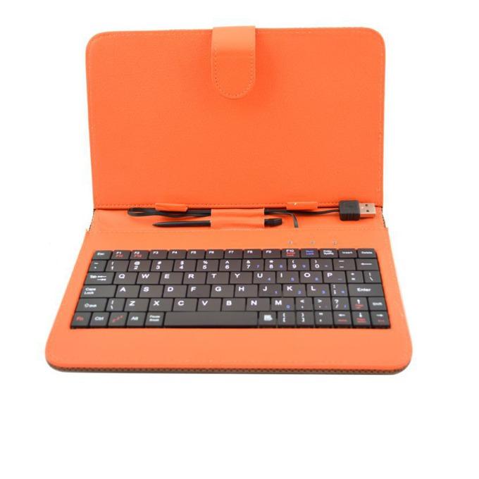 """Калъф  Privileg MID 7 за таблет до 7"""" (24.6 cm), """"бележник"""", кожа, USB, оранжев image"""
