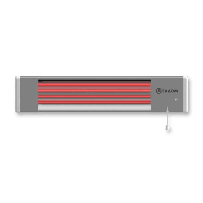 Отоплителна печка Елдом IR1800/OR, 2x900W нагревателя, 2 степени на загряване, четири степенен ключ, шнур с щепсел, сива image