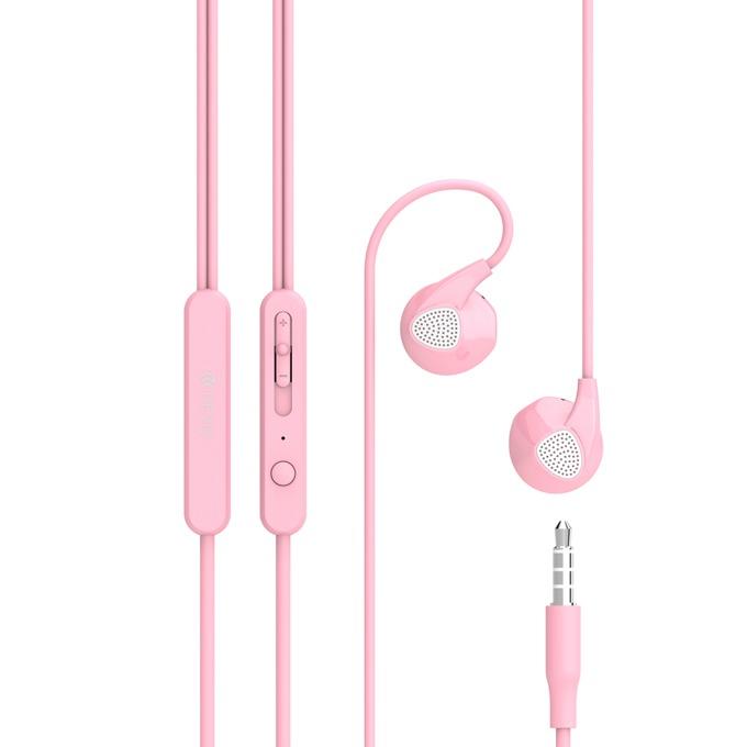 """Слушалки Devia Ripple D2, микрофон, тип """"тапи"""", розови image"""