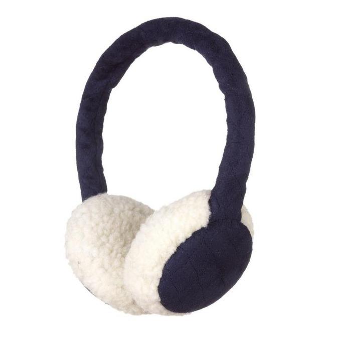 Слушалки KitSound Sheepskin Earmuffs, тъмно-сини, с ушанки image