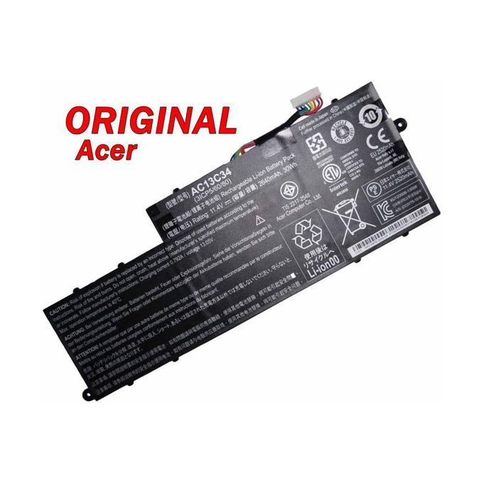 Батерия (оригинална) ACER Aspire, съвместима с V5-122P/AC13C34, 11.4V, 2640mAh image