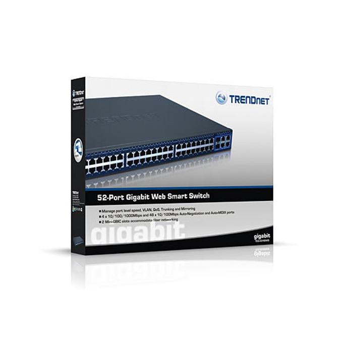 Суич TRENDnet TEG-2248WS, 48 Port 100Mbps, 4x 1000Mbps, 2x Mini-GBIC Slots image