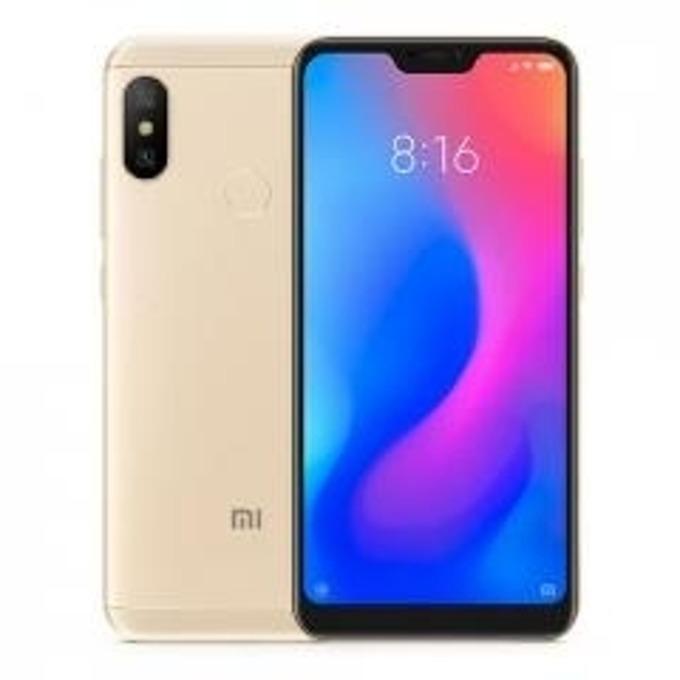 """Смартфон Xiaomi Mi A2 (златист), поддържа 2 сим карти, 5.99"""" (15.21 cm) Full HD+ IPS дисплей, осемядрен Qualcomm SDM660 Snapdragon 660 (4x 2.2 GHz Kryo 260 & 4x 1.8 GHz Kryo 260), 4GB RAM, 64GB Flash памет, 20+12 & 20Mpix, Android, 166гр. image"""