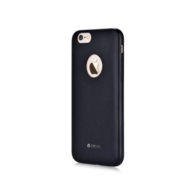 Калъф за Apple iPhone 6/6S, страничен протектор с гръб, поликарбонат, Devia CEO2, черен image