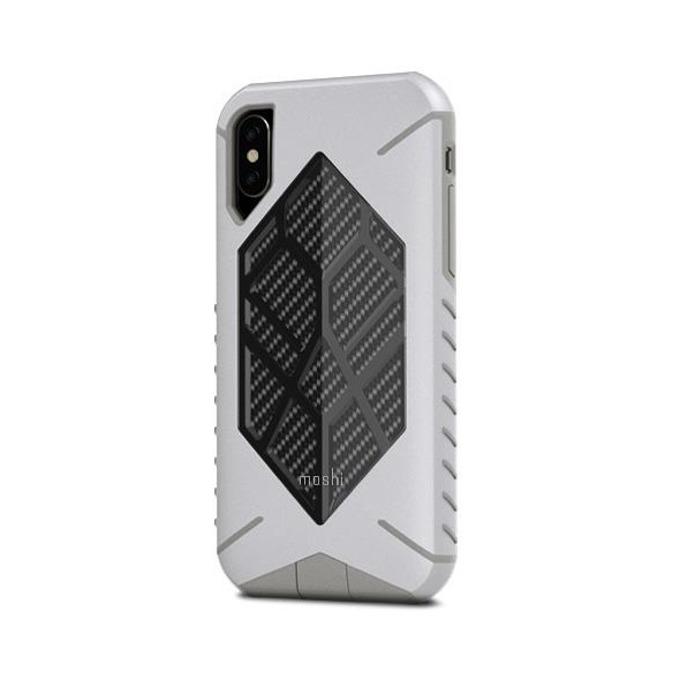Калъф за Apple iPhone XS, хибриден, Moshi Talos 99MO086011, удароустойчив, сив image