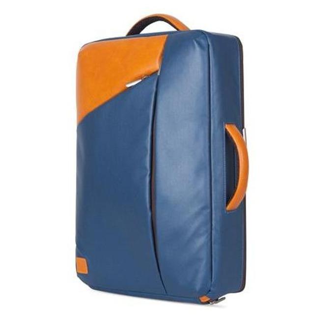 """Раница Moshi Venturo Slim Laptop Backpack за MacBook Pro 15 и лаптопи до 15.4"""" (39.11 cm), еко кожа, удароустойчива, влагоустойчива, удароустойчива, тъмносин image"""