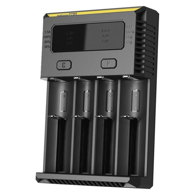 Зарядно устройство Nitecore NEW i4 за Li-Ion, IMR, LiFePO4, Ni-Mh, Ni-Cd, DC 9~12V, 1A image