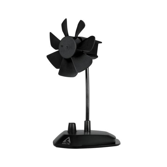 Вентилатор за бюро Arctic Breeze, 1W, 92 mm, USB, черен image