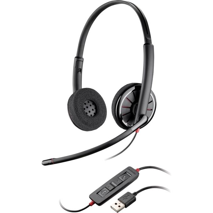 Слушалки Plantronics Blackwire C320-M, микрофон, USB, BULK image