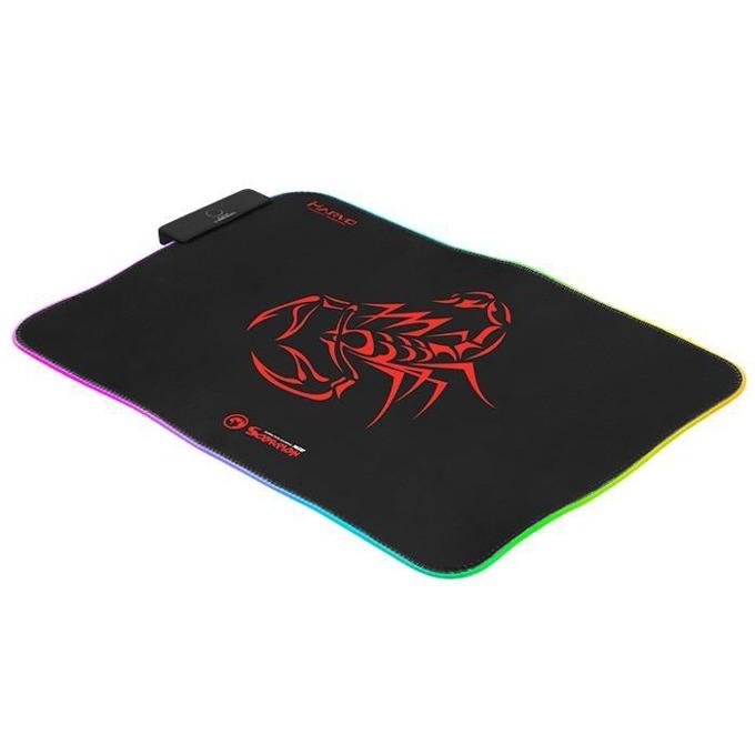 Подложка за мишка Marvo MG08, гейминг, RGB, черна, 350 x 250 x 3 mm image