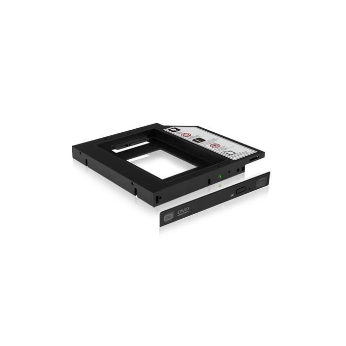 """Адаптер Raidsonic IB-AC640, DVD slim към 2.5"""" (6.35 cm) SATA HDD/SSD, 9.5мм, черен image"""