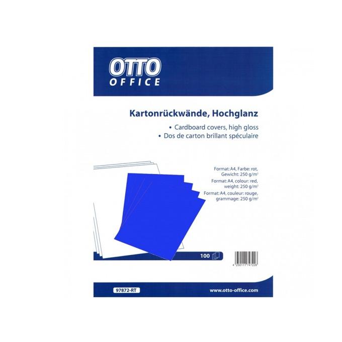 Корица за подвързване за гръб Montlith Otto, за документи с формат до A4, синя, 100бр. в опаковка image