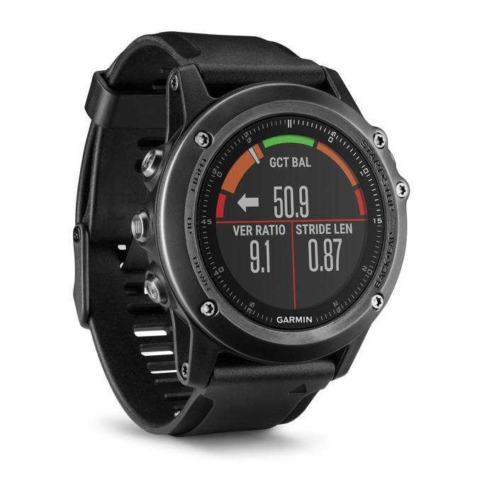 "Смарт часовник Garmin Fēnix 3 Sapphire HR, GPS, Bluetooth 4.0 LE, Wi-Fi, 1.2"" (30.4 mm) дисплей, 32MB Flash памет, до 16ч работа, водоустойчив, различни цветове image"