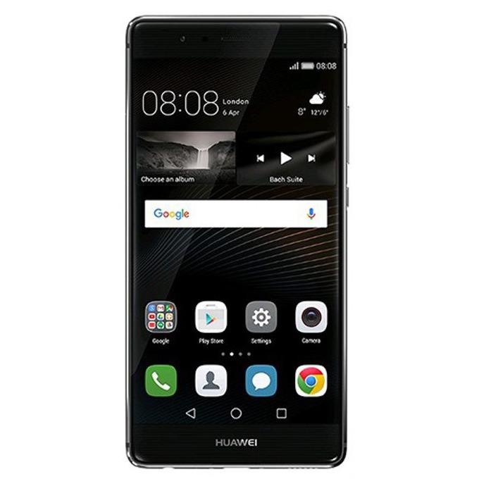 """Huawei P9 (сив), поддържа 2 sim карти, 5.2"""" (13.21 cm) IPS-NEO дисплей, осемядрен(четириядрен Cortex-A72 2.5 GHz & четириядрен Cortex-A53 1.8 GHz), 3GB RAM, 32GB Flash памет (+microSD слот), 12.0 & 8.0 Mpix camera, Android, двойна камера, 144g image"""