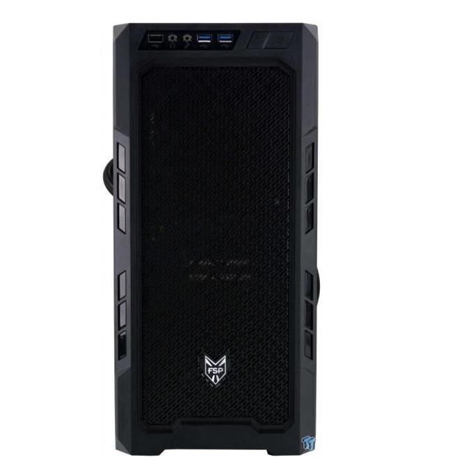 ATX/micro ATX/mini-ITX Fortron CMT210, 2x USB 3.0, прозорец, черна, 500W захранване image
