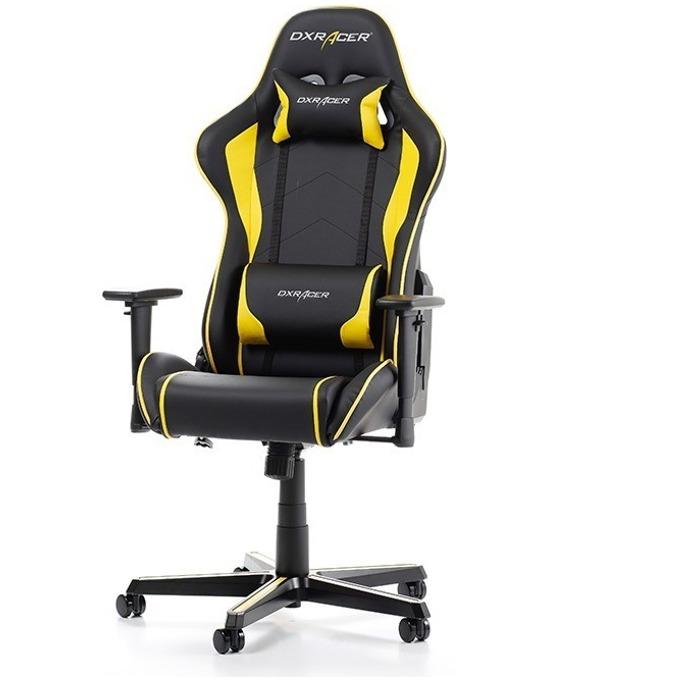 Геймърски стол DXRacer Formula OH/FH08/NY, черен/жълт image