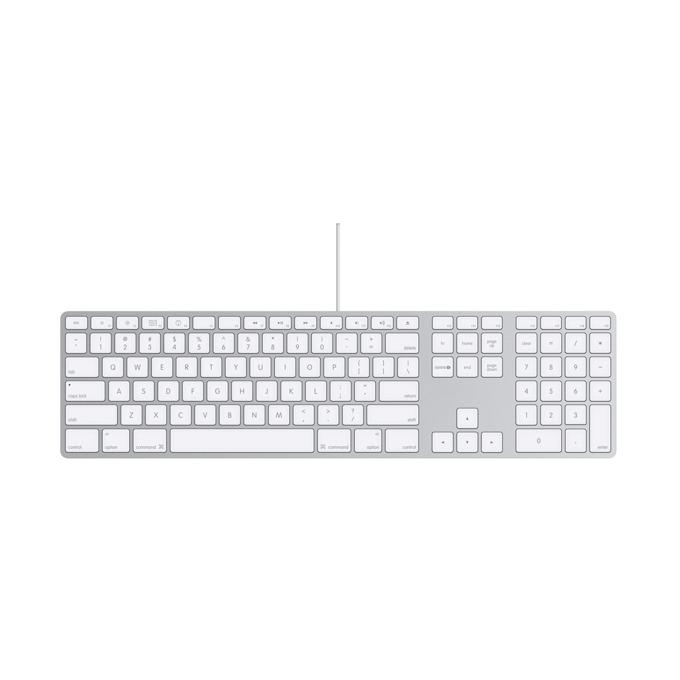 Клавиатура Apple Keyboard with Numeric Keypad BG, сребрист image