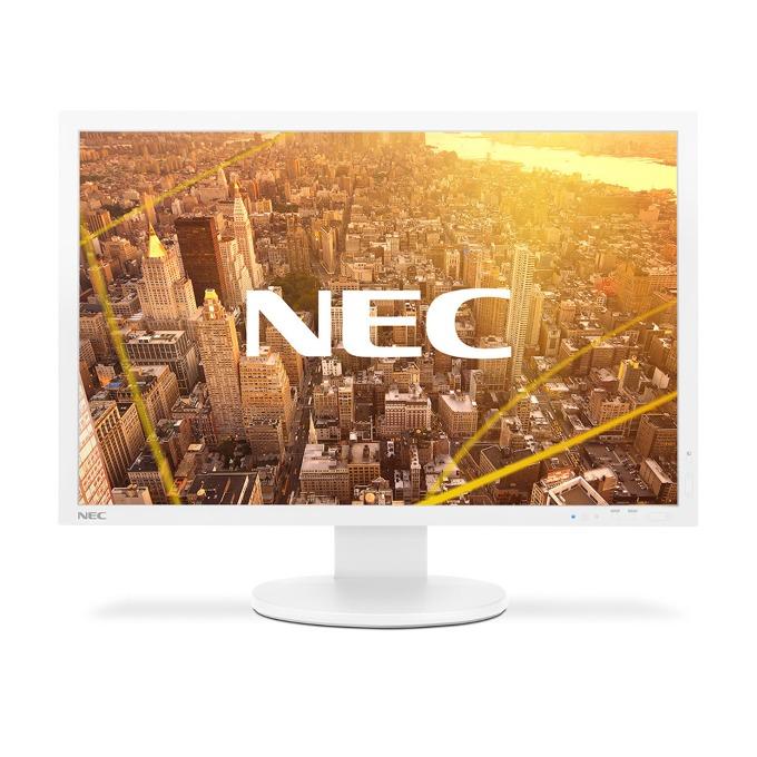 """Монитор NEC PA243W, 24""""(60.96 cm), IPS панел, WUXGA, 8ms, 1000:1, 350 cd/m2, VGA, DisplayPort, DVI-D, HDMI, USB, бял image"""