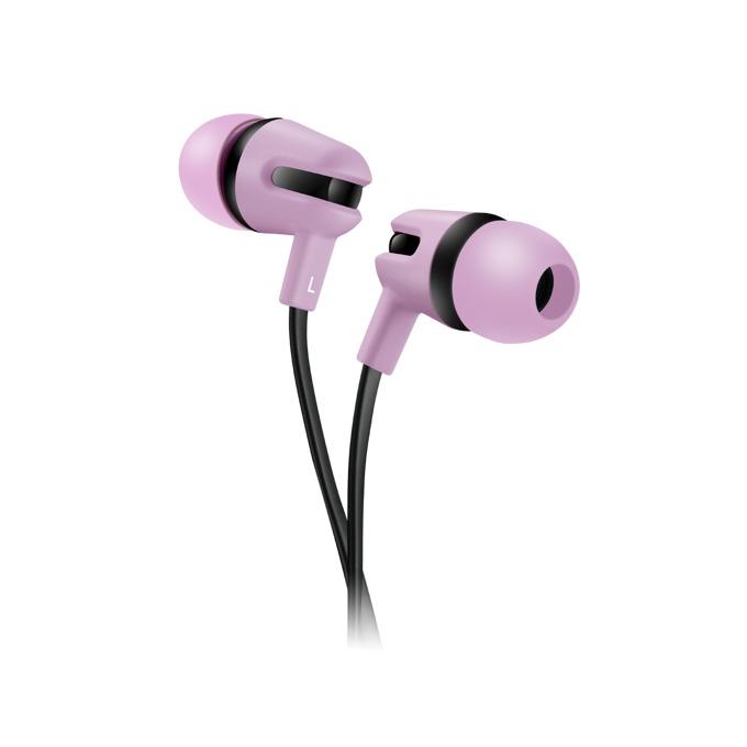 Слушалки Canyon CNS-CEP4RO, микрофон, 1.2m плосък кабел, розови image