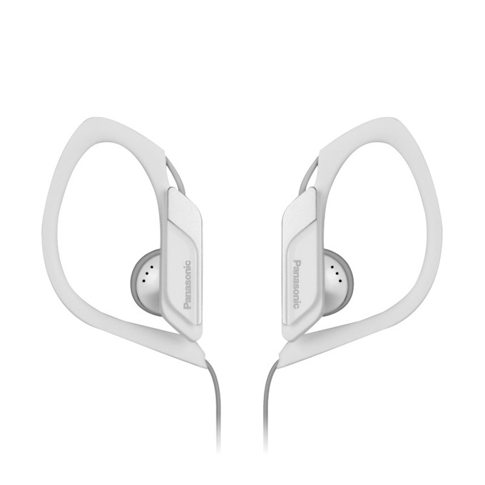 Слушалки Panasonic RP-HS34E, спортни, водоустоичиви, сгъваеми, бели image