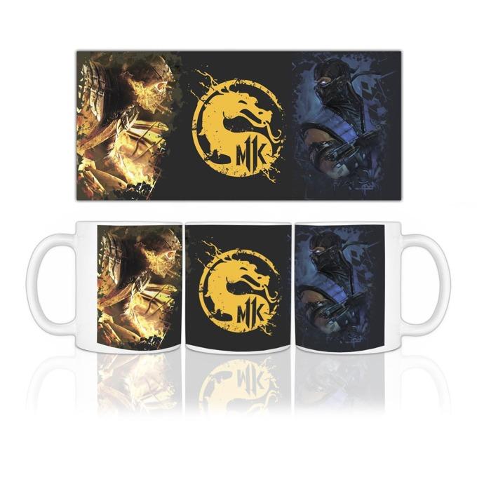 Чаша Mortal Kombat, бяла image