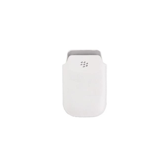 Калъф за Blackberry Torch 9800, джоб, еко кожа, Blackberry Pouch, бял image