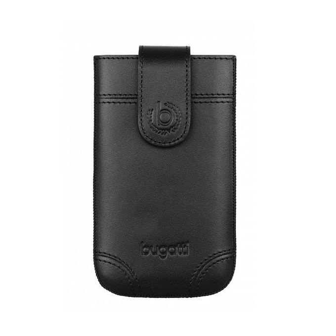 Универсален калъф, джоб, естествена кожа, Bugatti SlimCase Dublin 2XL, черен image