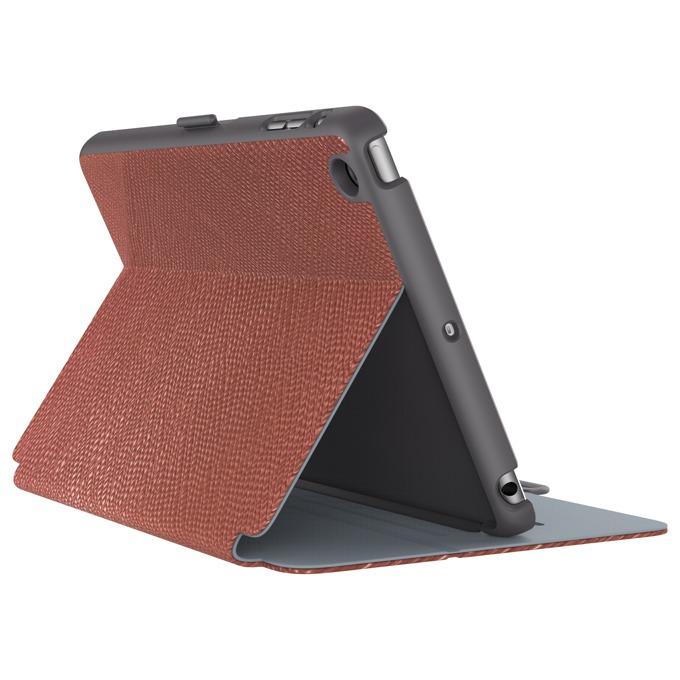 """Калъф тип """"бележник"""" Speck StyleFolio Luxe за iPad Mini 4, тъмночервен/сив image"""